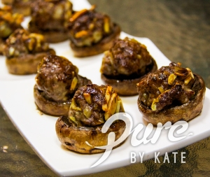 Lamb Stuffed Roasted Balsamic Mushrooms